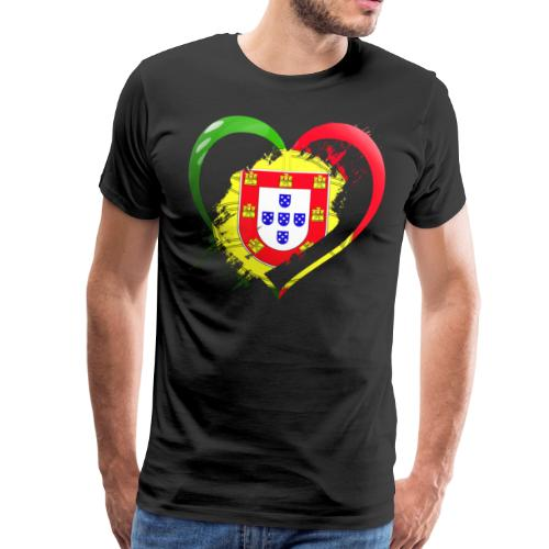 Portugal Herz - Männer Premium T-Shirt