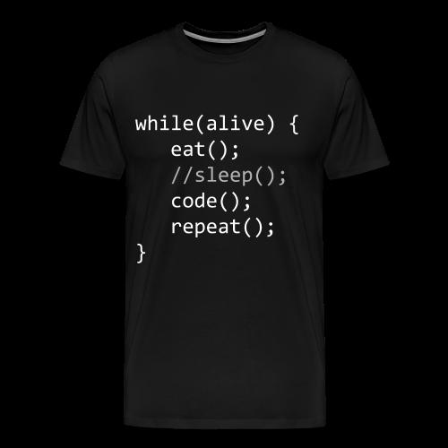 Code While Alive - Männer Premium T-Shirt