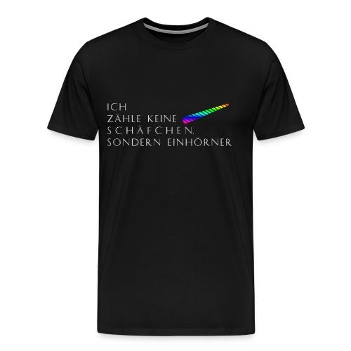 Einhorn Regenbogenfarben - Männer Premium T-Shirt