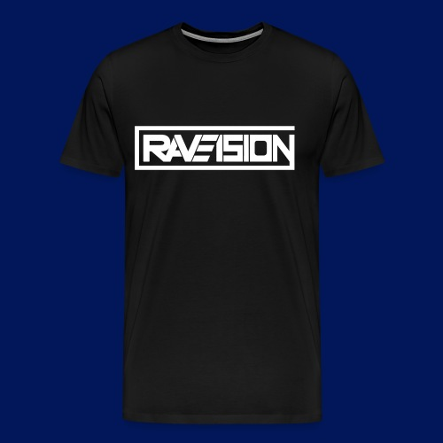 Raveision logo white - Männer Premium T-Shirt