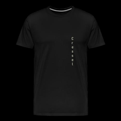 Cressel logo chevauché crème - T-shirt Premium Homme