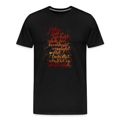 Åndens frukt - Premium T-skjorte for menn