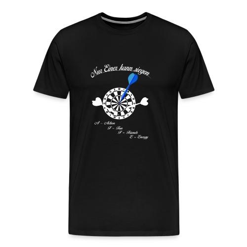 Nur einer kann siegen - Dart Champion - Männer Premium T-Shirt