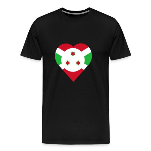 Burundi love heart - Men's Premium T-Shirt
