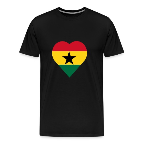 Ghana love heart - Men's Premium T-Shirt