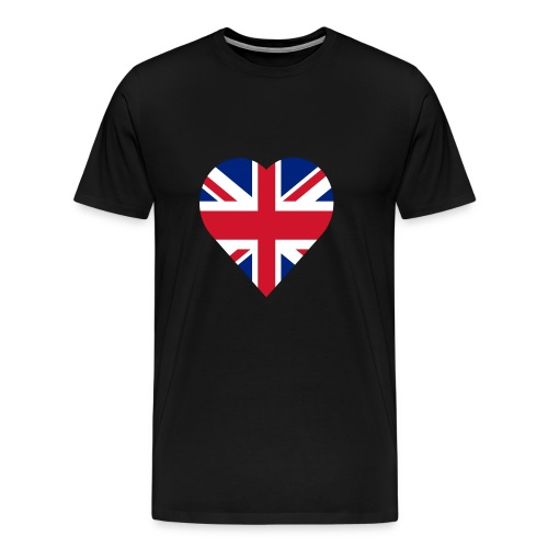 United kingdom love heart - Men's Premium T-Shirt