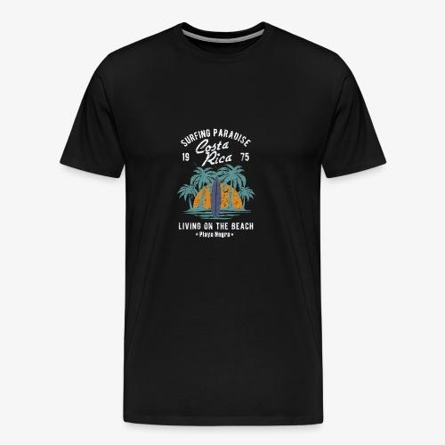Surf Paradies Costa Rica Urlaub - Männer Premium T-Shirt