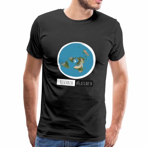 Flache Erde Karte | RESERACH #FLATEARTH - Männer Premium T-Shirt