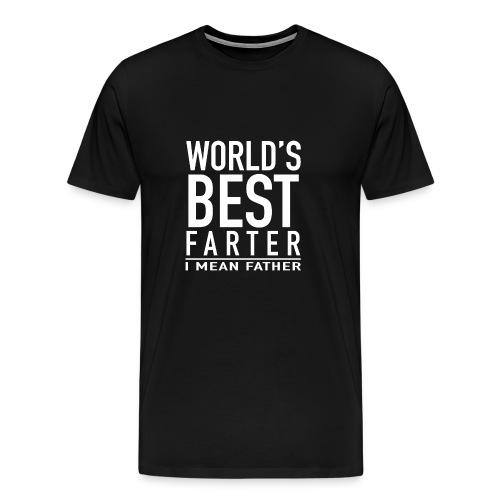 Worlds best Farter Father Shirt - Männer Premium T-Shirt