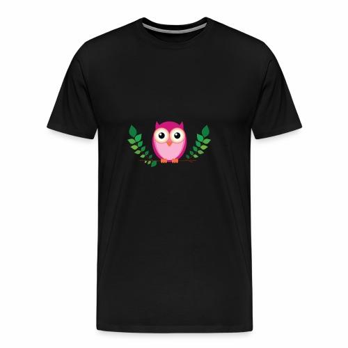 Kleine rosa Eule - Männer Premium T-Shirt
