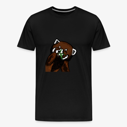Cute red panda with Bamboo Wildlife T-Shirt - Men's Premium T-Shirt