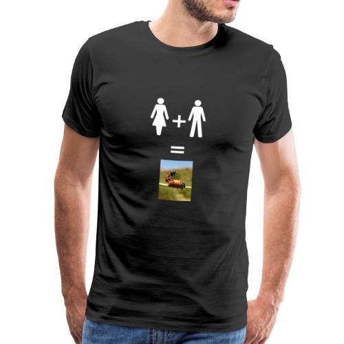 Man woman bugs - Männer Premium T-Shirt