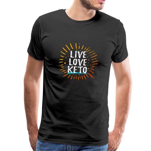 Live Love Keto Diät Shirt - Männer Premium T-Shirt