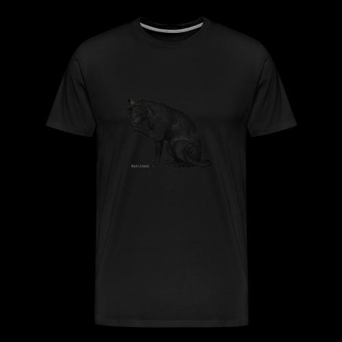 chat noir élégant - T-shirt Premium Homme