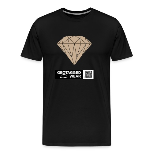 Men Diamond Pantone Warm Sand - Männer Premium T-Shirt
