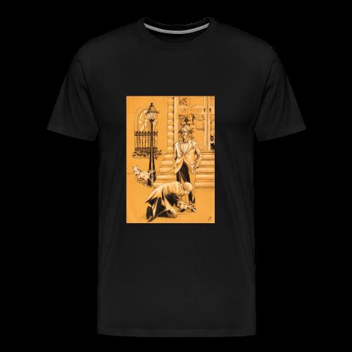 design pour homme, homme en costume avec son chien - T-shirt Premium Homme