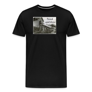 drink and drive - Premium-T-shirt herr