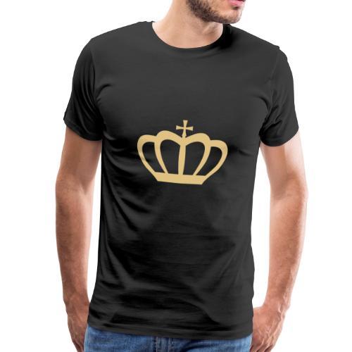 Krone gold - Männer Premium T-Shirt