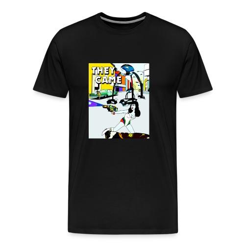 they came poster render1 - Premium T-skjorte for menn