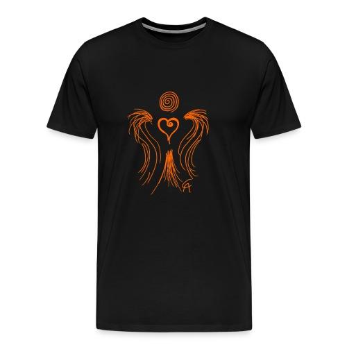 Herzengel orange - Männer Premium T-Shirt