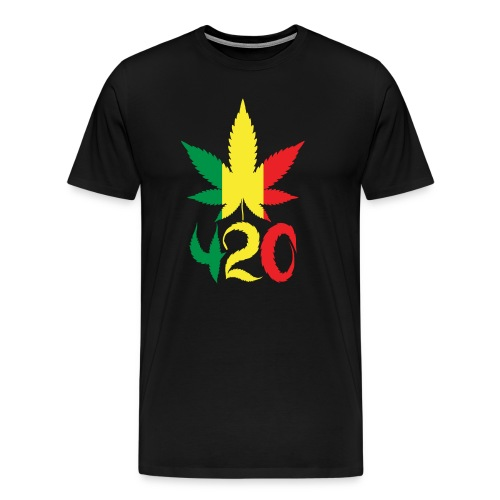 420 Rasta Leaf - Men's Premium T-Shirt