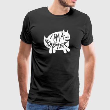 Olen hirviö - Halloween Ghost Horror Fun - Miesten premium t-paita