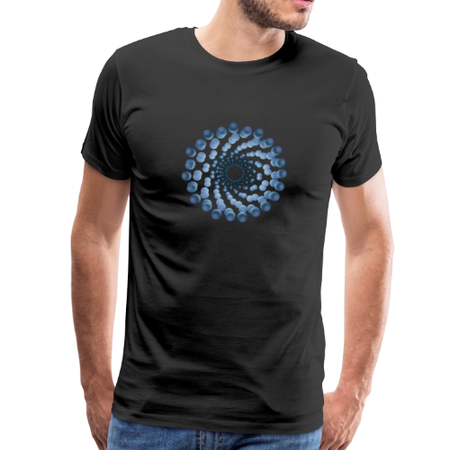 atom cellular nine - Männer Premium T-Shirt