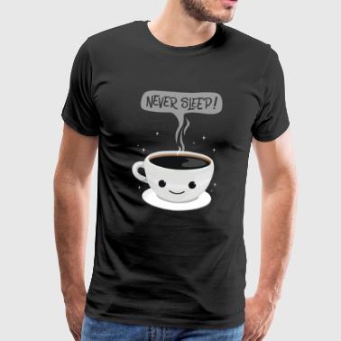 Never Sleep - kaffee - Männer Premium T-Shirt