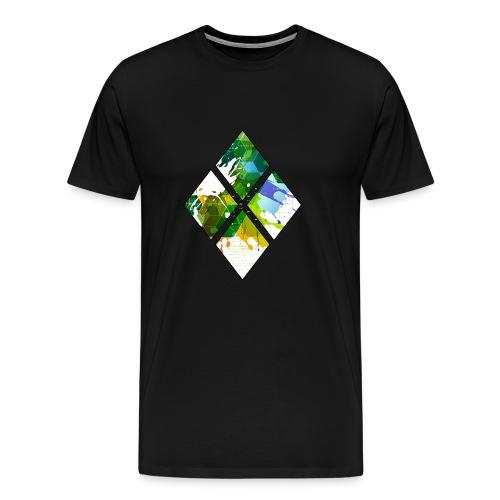 4-Diamanten-Grün - Männer Premium T-Shirt