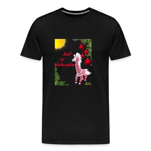 Bald ist Weihnachten - Männer Premium T-Shirt