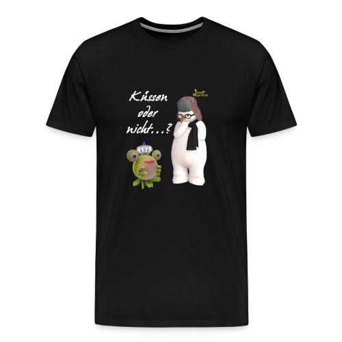 Küssen oder nicht - Männer Premium T-Shirt