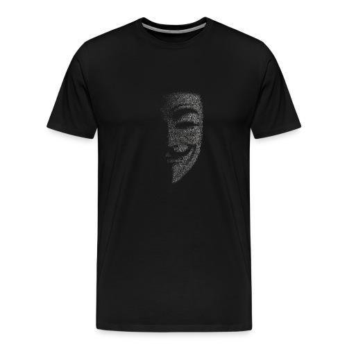 V de vendetta   Mascara Hackers - Camiseta premium hombre