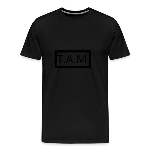 TAM T-Shirt, Black Logo - Mannen Premium T-shirt