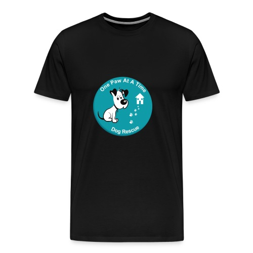 One Paw at a Time Logo - Men's Premium T-Shirt