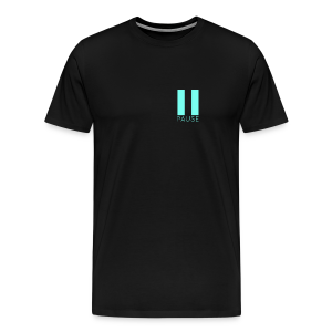 Blue Pause Logo - Men's Premium T-Shirt