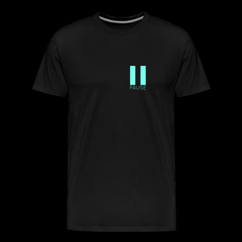 Blue Pause Logo - Men's Premium T-Shirt