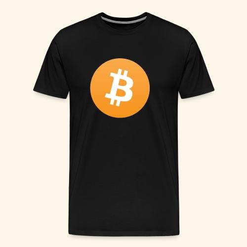 Bitcoin Logo Geschenk für Bitcoinsammler - Männer Premium T-Shirt