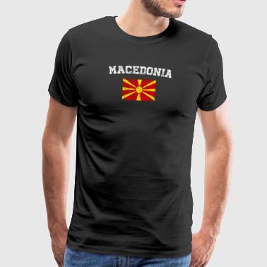 Makedonia Lippu paita - Vintage Makedonia T-paita - Miesten premium t-paita