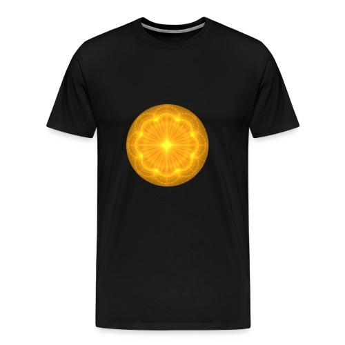 Golden Radiance Mandala Heart - Mannen Premium T-shirt
