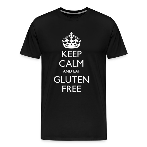 Keep Calm And Eat Gluten Free - Mannen Premium T-shirt
