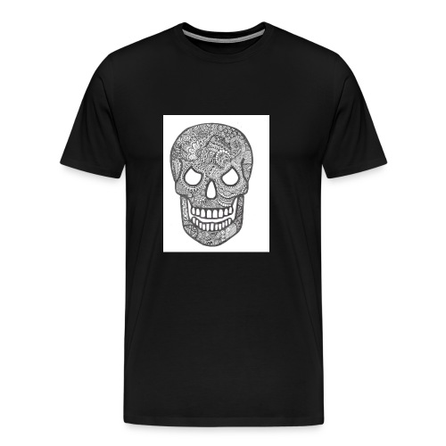 Zentangle Skull 1 - Mannen Premium T-shirt