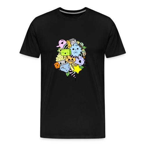 Doodle Art - Camiseta premium hombre