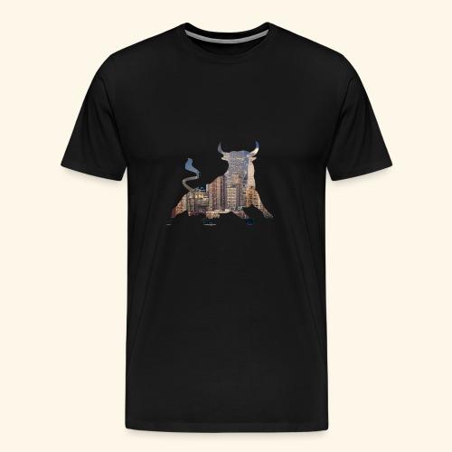 Wall-Street Bulle - Männer Premium T-Shirt