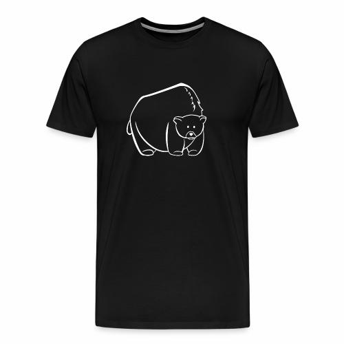 weißes Bärchen - Männer Premium T-Shirt