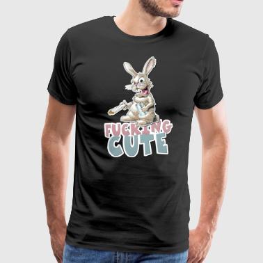 Cazzo sveglio del coniglio - Maglietta Premium da uomo