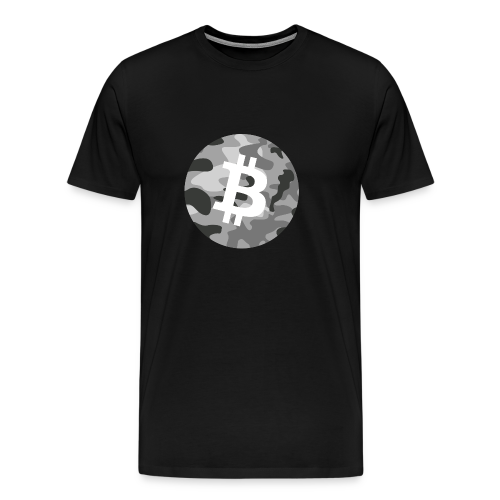 Bitcoin Black en White Army Camo - Mannen Premium T-shirt