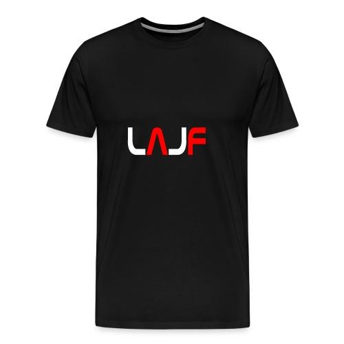 LAJF vit - Premium-T-shirt herr