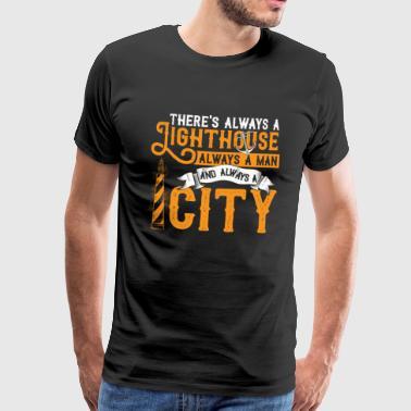 fyr - Premium-T-shirt herr