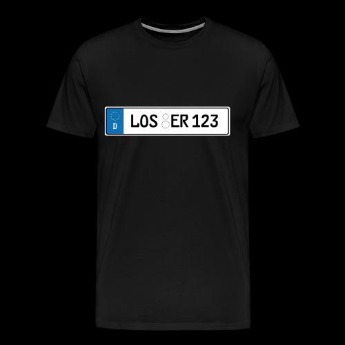 Kennzeichen Loser - Männer Premium T-Shirt