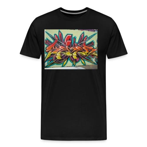 free graffiti wallpaper 1 - Männer Premium T-Shirt